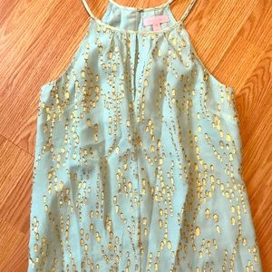 Lily Pulitzer light blue and gold